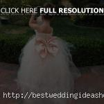 Flower Girl Dress, Wedding Dress, Bridal Special Occasion Flower Girl Dress with Crystals