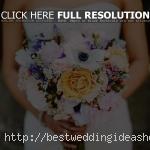 purple and orange bouquet,